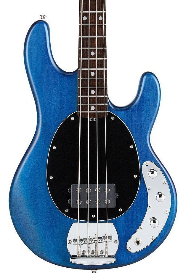 Sterling by Music Man Ray 4 - Trans Blue Satin
