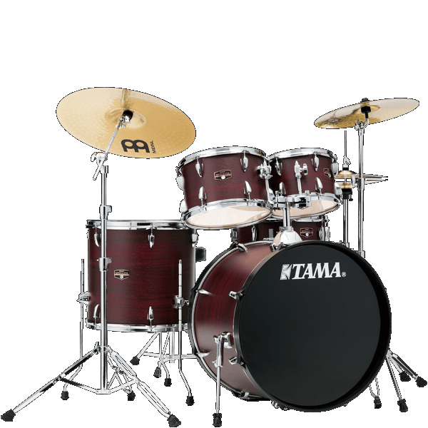 Tama Imperialstar 5pc Drum Set IE52C Burgundy Walnut Wrap