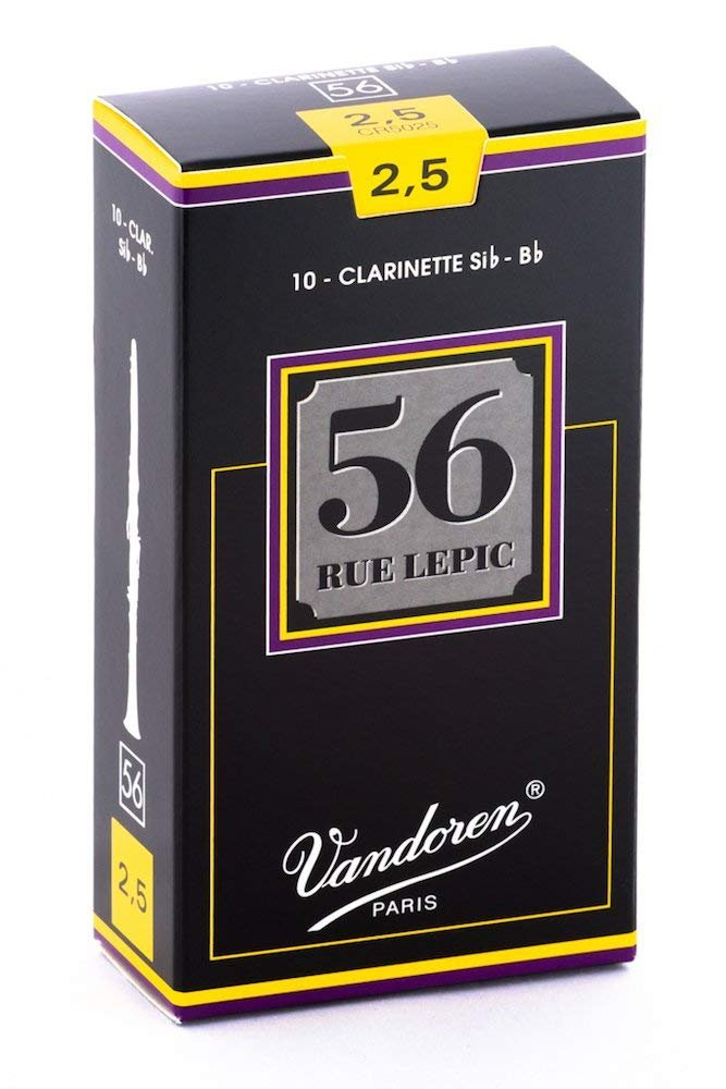 Vandoren 56 Rue Lepic Bb Clarinet Reeds #2.5, Box of 10
