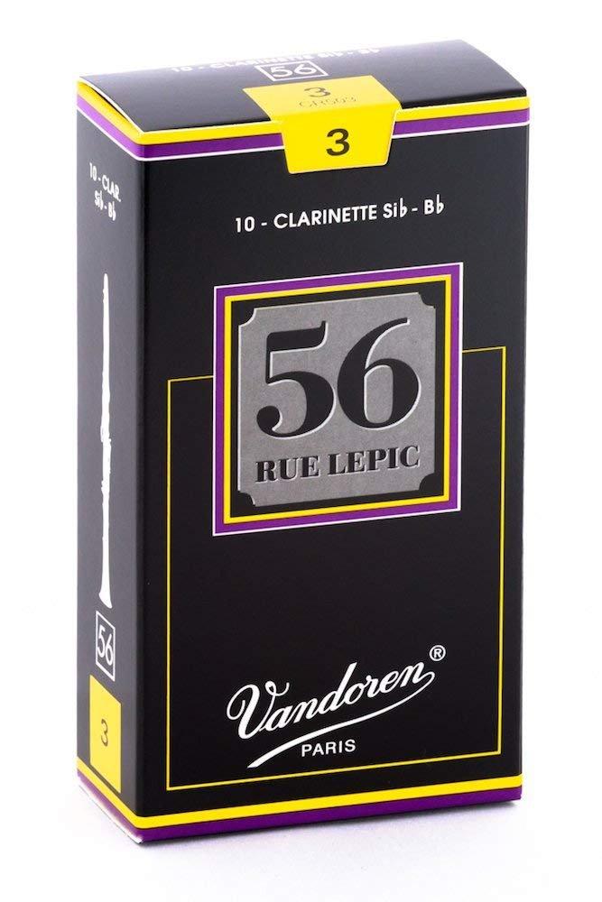 Vandoren 56 Rue Lepic Bb Clarinet Reeds #3, Box of 10