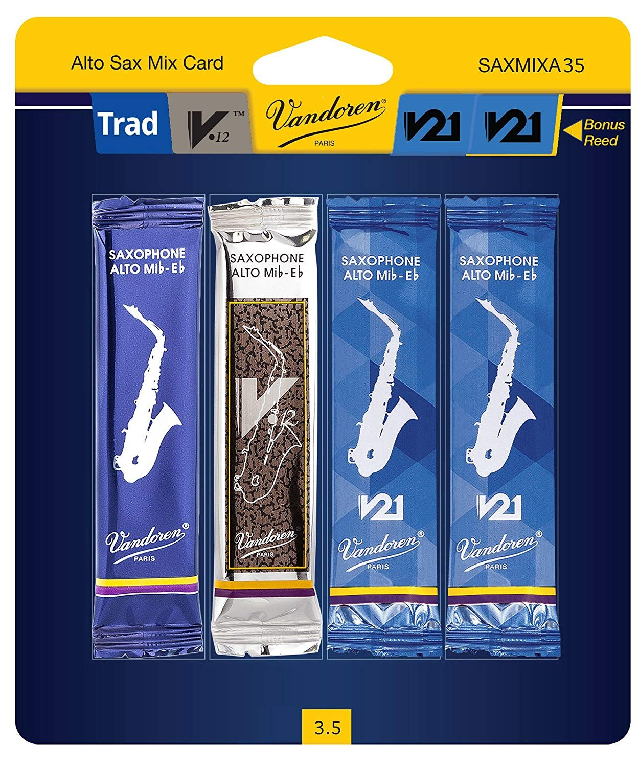 Vandoren Mix Card Eb Alto Sax #3.5
