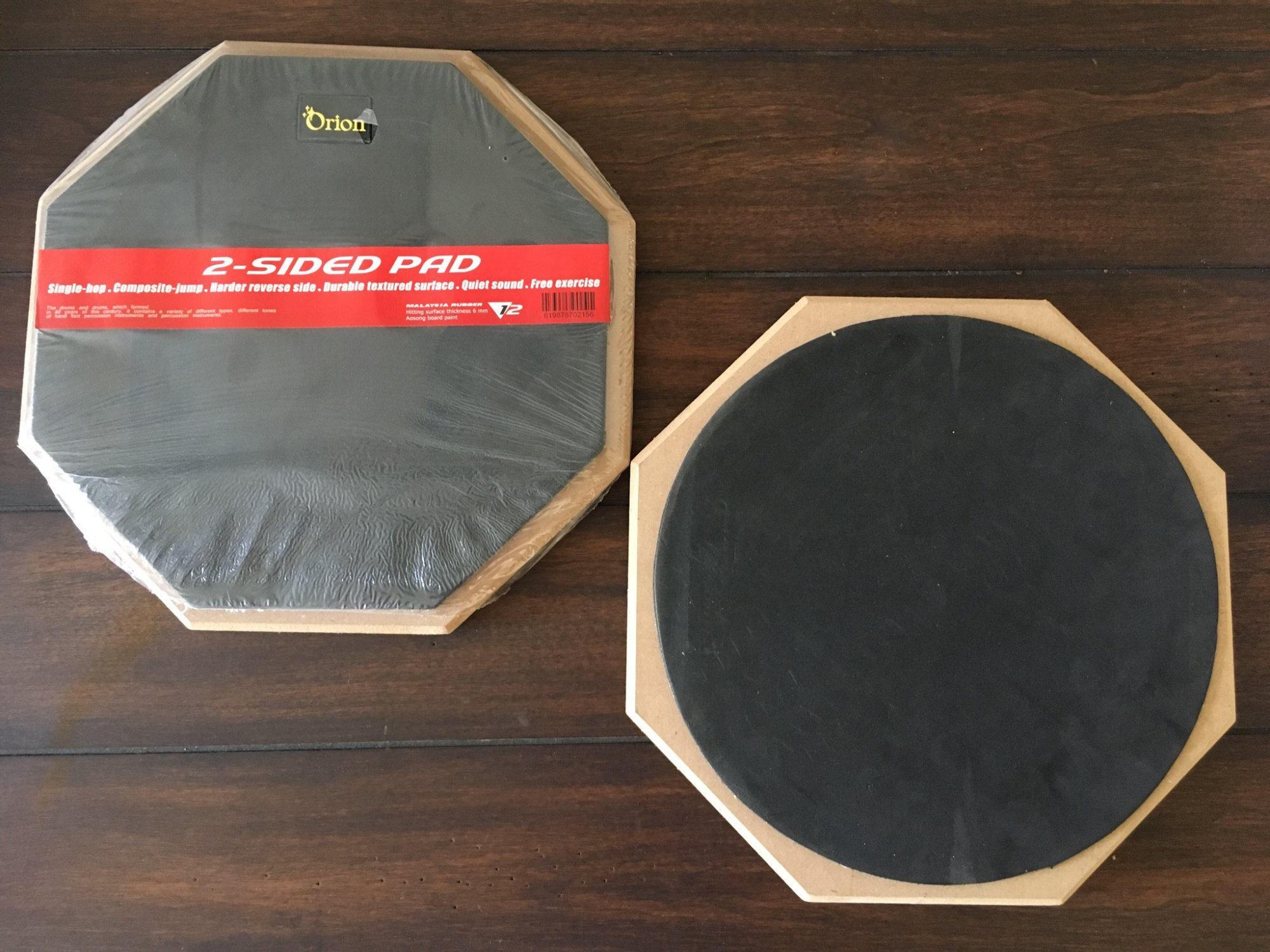 Orion 12 2-Sided Drum Pad - Black