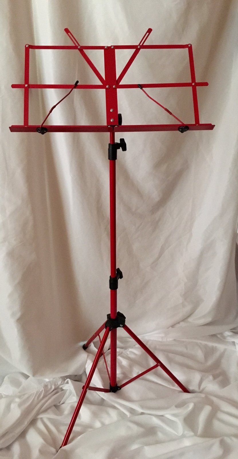 Orion Folding Music Stand (Red) with Case