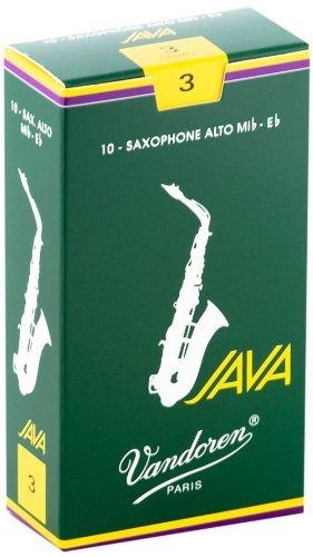 Vandoren Java Eb Alto Saxophone Reeds #3, Box of 10