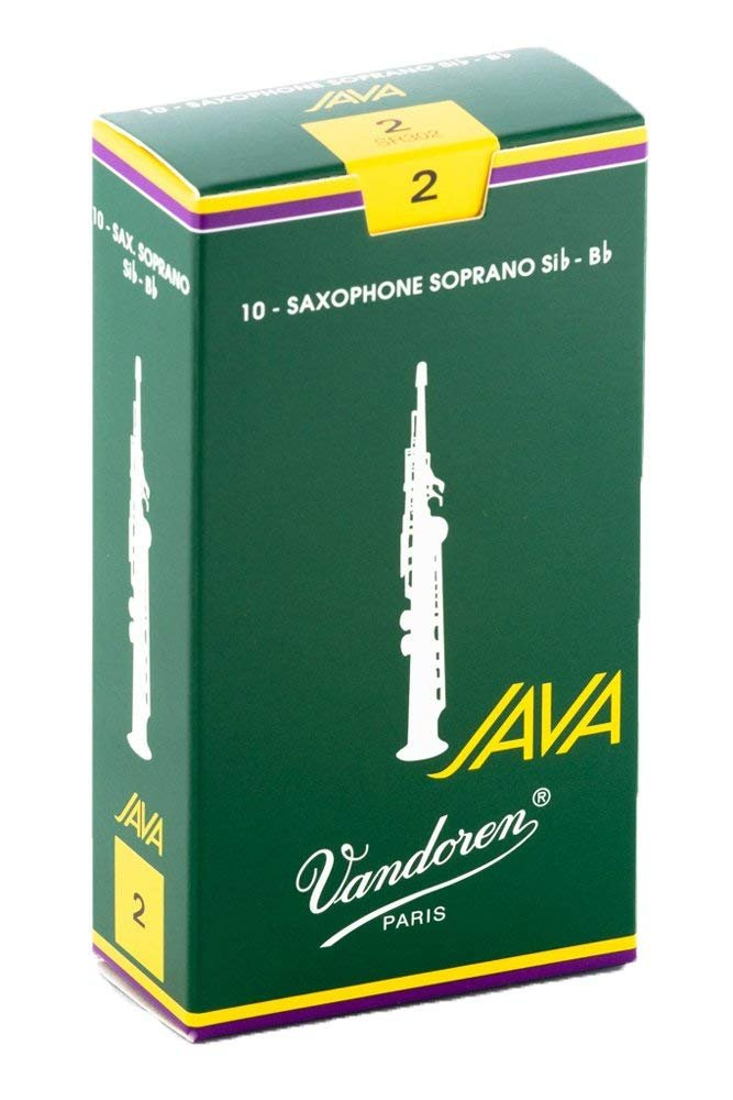Vandoren Java Bb Soprano Saxophone Reeds #2, Box of 10