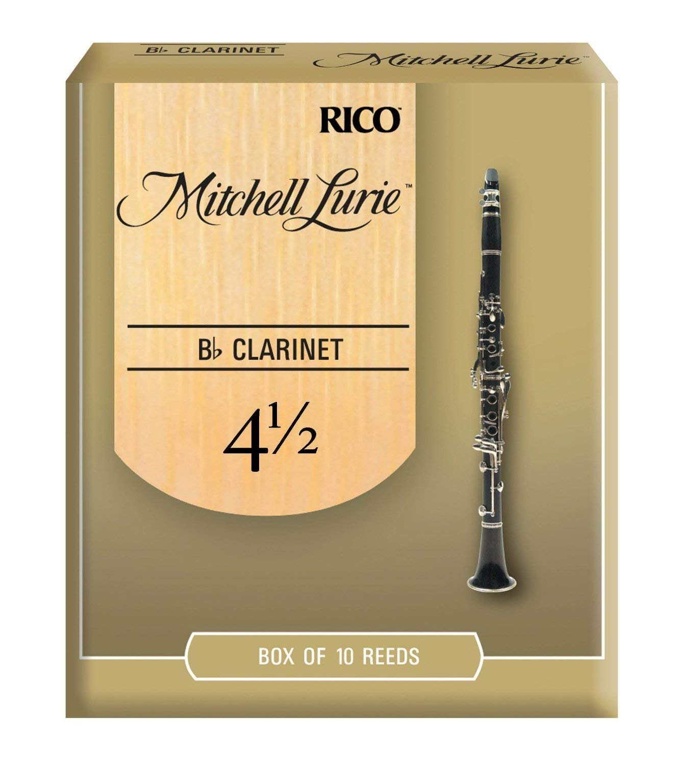 Mitchell Lurie Bb Clarinet Reeds #4.5, Box of 10