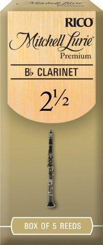 Mitchell Lurie Bb Clarinet Premium Reeds #2.5, Box of 5