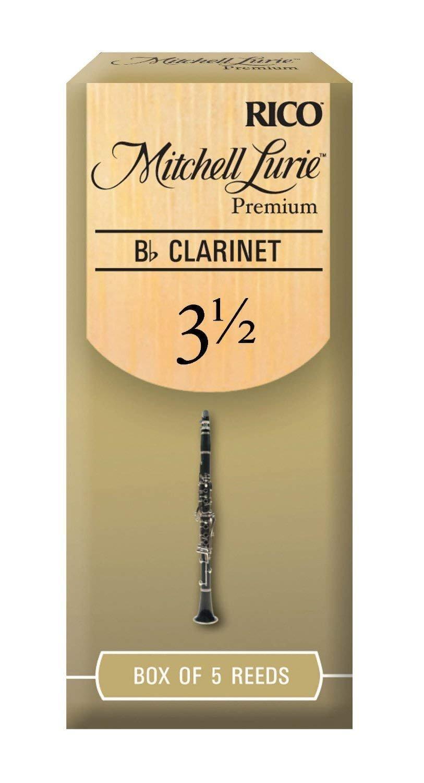 Mitchell Lurie Bb Clarinet Premium Reeds #3.5, Box of 5