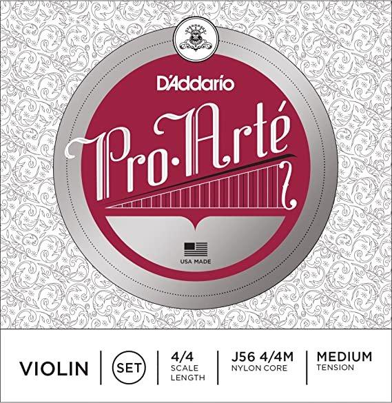 Pro Arte' 4/4 Violin String Set Med Tension