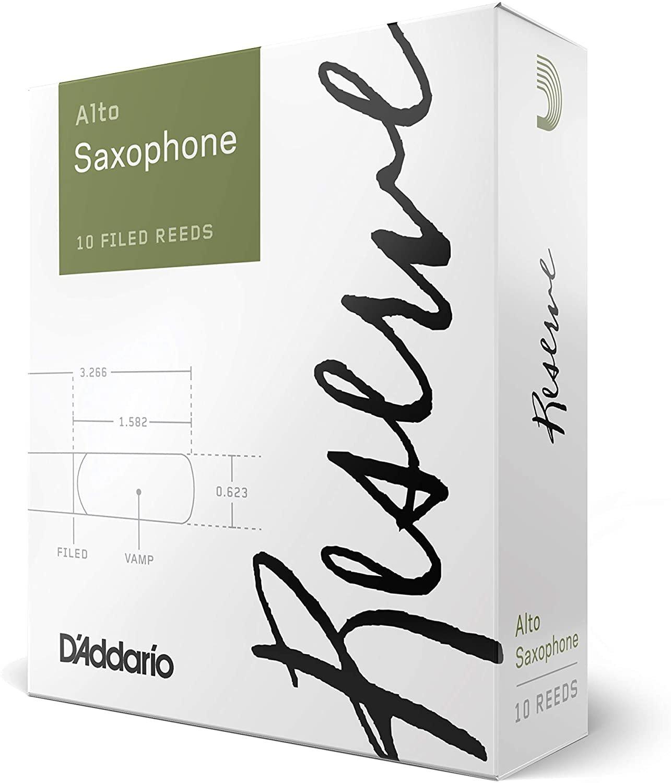 D'Addario Reserve Eb Alto Saxophone Reeds #3+, Box of 10
