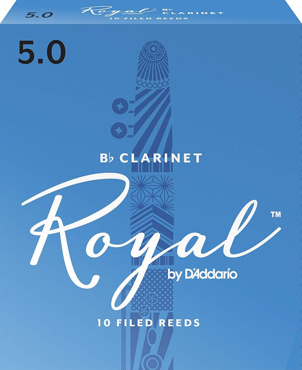 Rico Royal Bb Clarinet Reeds #5, Box of 10