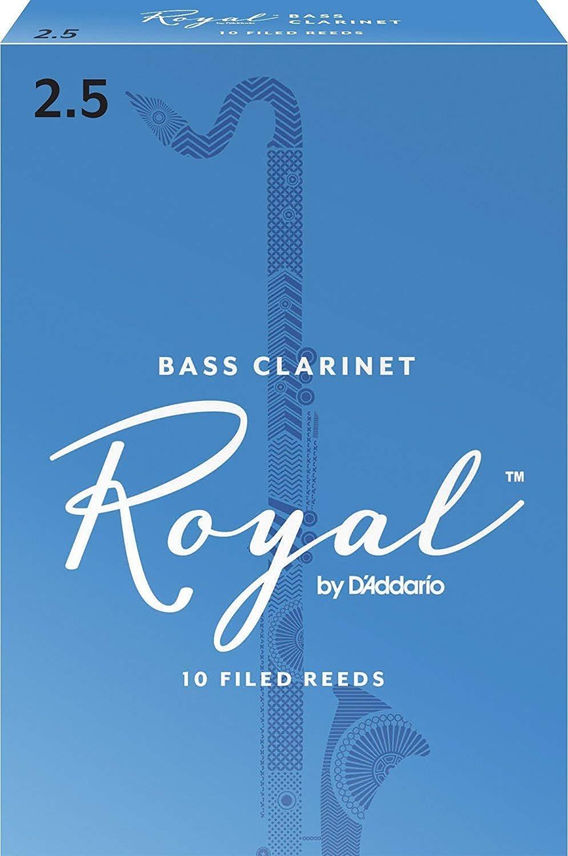 Rico Royal Bb Bass Clarinet Reeds #2.5, Box of 10