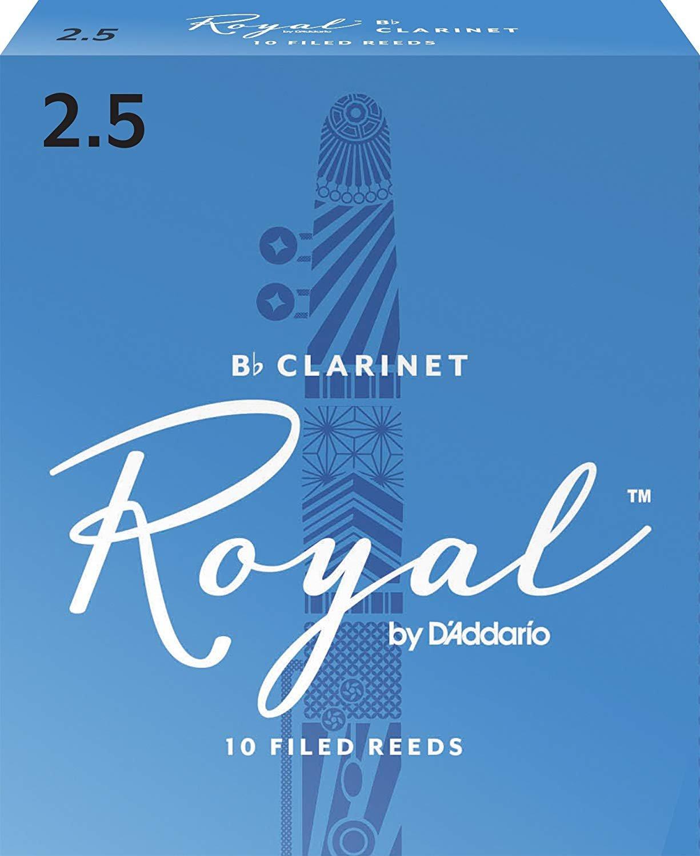 Rico Royal Bb Clarinet Reeds #2.5, Box of 10