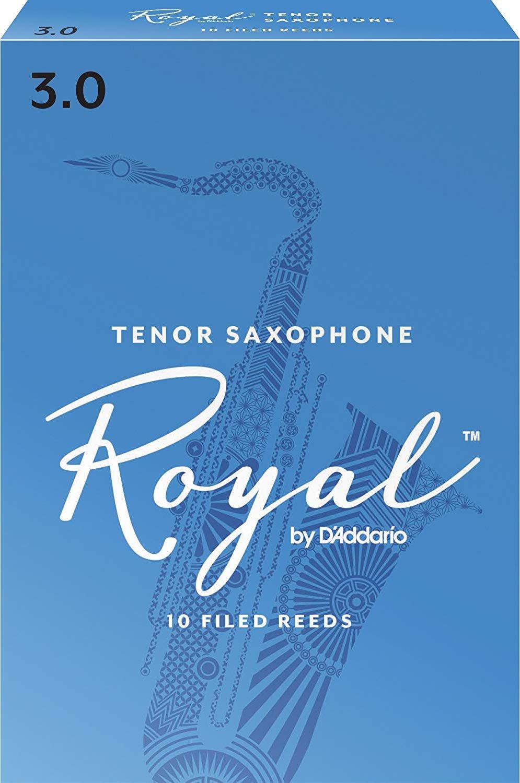 Rico Royal Bb Tenor Saxohone Reeds #3, Box of 10