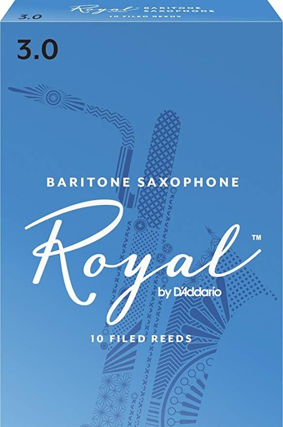 Rico Royal Eb Baritone Saxophone Reeds #3, Box of 10