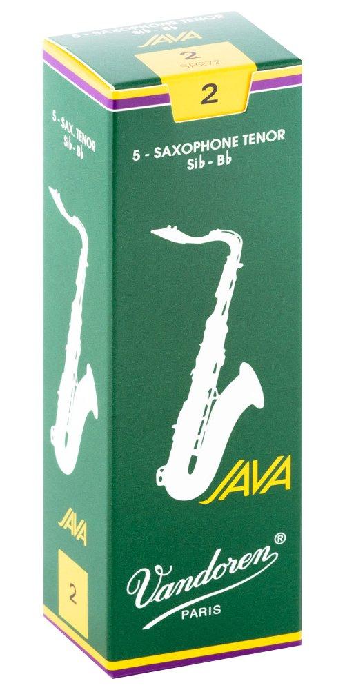 Vandoren Java Bb Tenor Saxophone Reeds #2, Box of 5