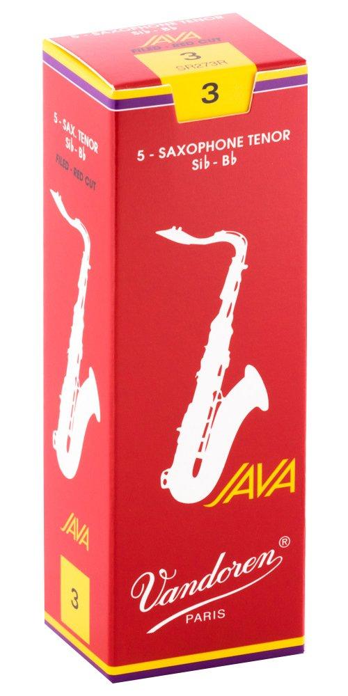 Vandoren Java Red Bb Tenor Saxophone Reeds, #2, Box of 5 - copy