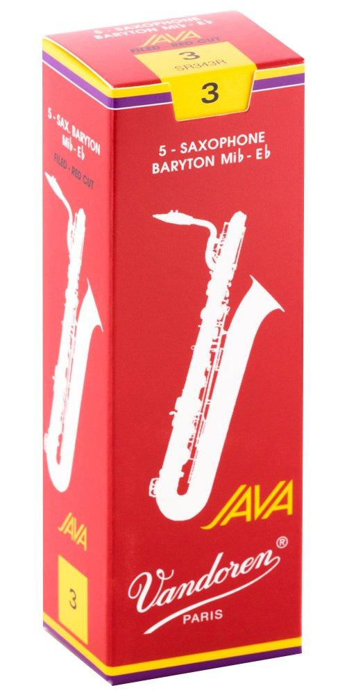 Vandoren Java Red Eb Baritone Saxophone Reeds #3, Box of 5