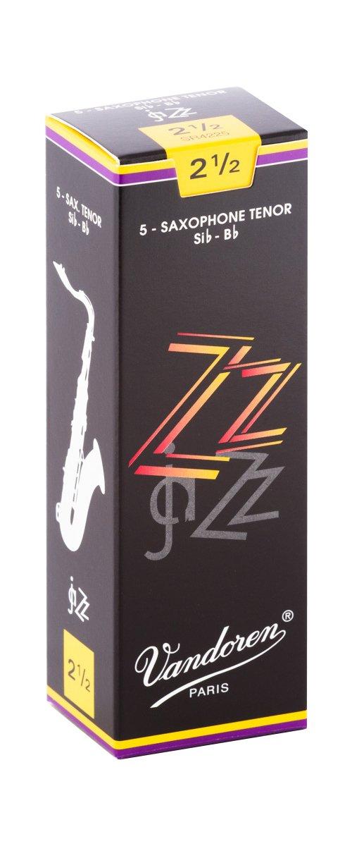 Vandoren ZZ Bb Tenor Saxophone Reeds #2.5, Box of 5