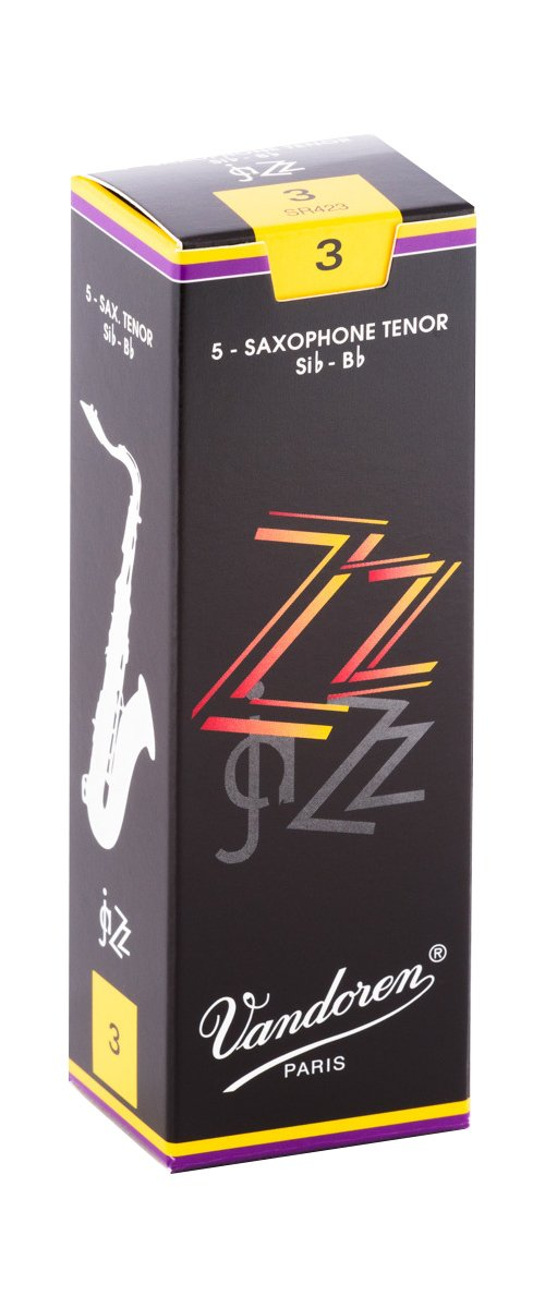 Vandoren ZZ Bb Tenor Saxophone Reeds #3, Box of 5