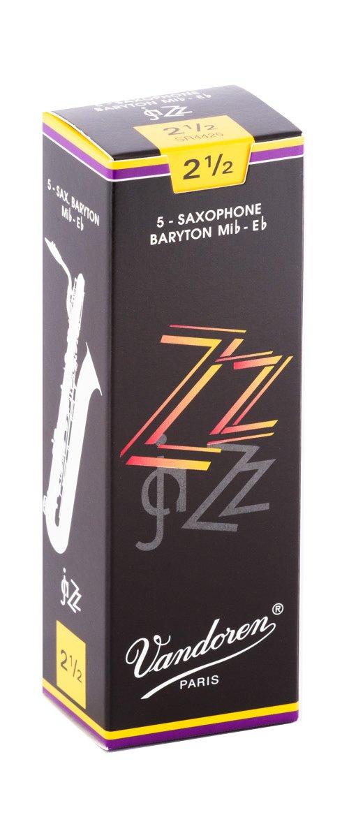 Vandoren ZZ Eb Baritone Saxophone Reeds #2.5, Box of 5