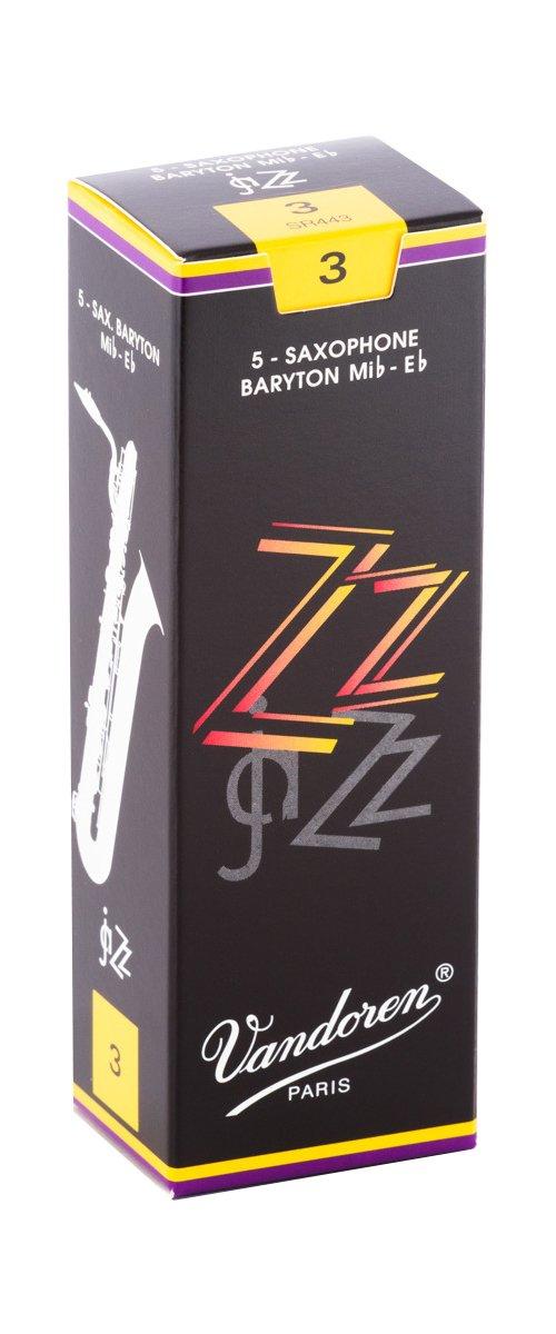 Vandoren ZZ Eb Baritone Saxophone Reeds #3, Box of 5