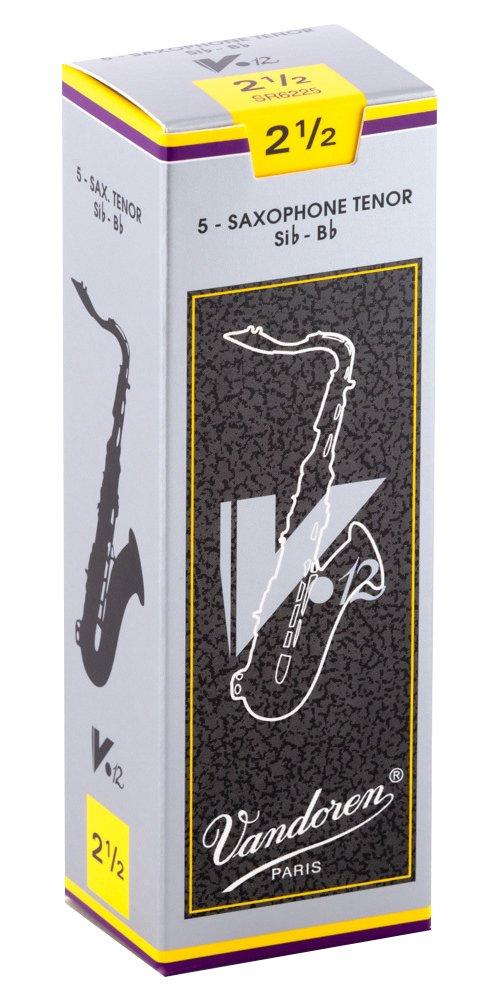 Vandoren V12 Bb Tenor Sax Reeds #2.5, Box of 5