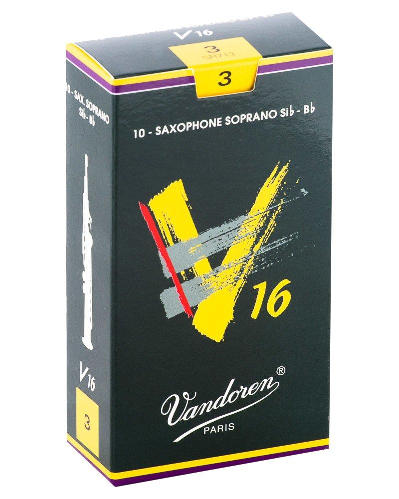Vandoren V16 Bb Soprano Saxophone Reeds #3, Box of 10