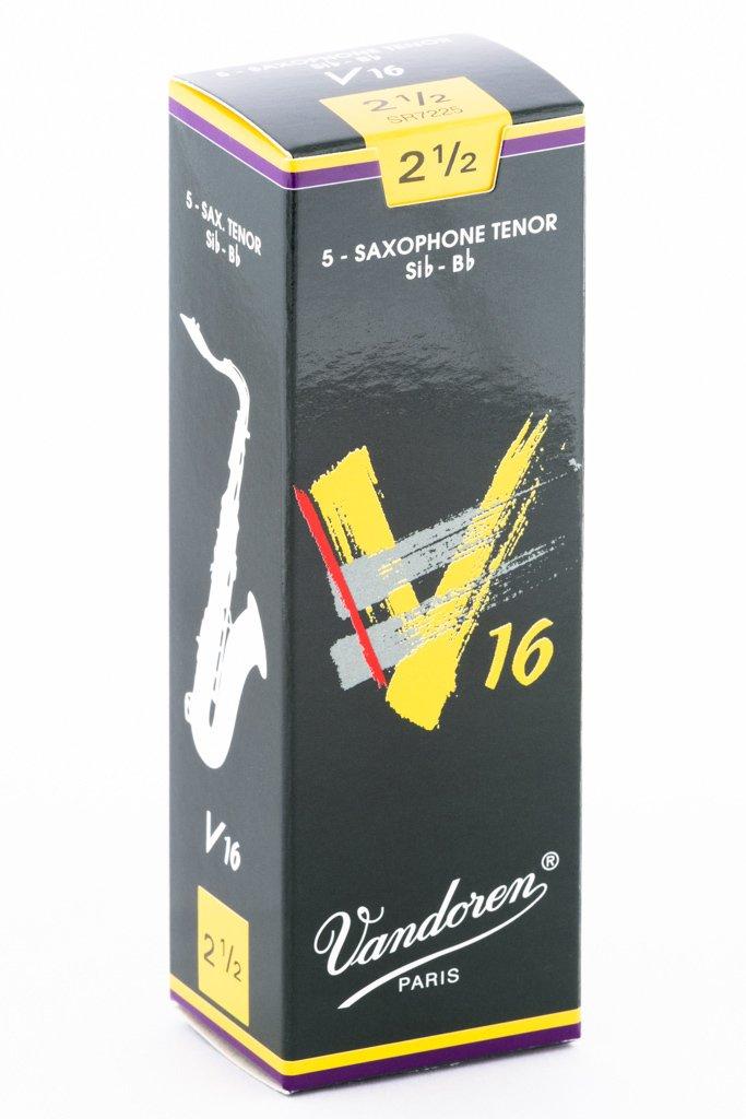 Vandoren V16 Bb Tenor Saxophone Reeds #2.5, Box of 5