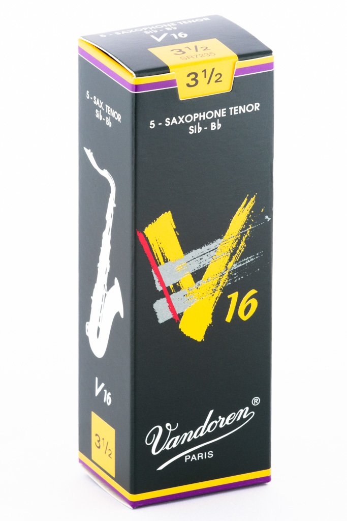 Vandoren V16 Bb Tenor Saxophone Reeds #3.5, Box of 5