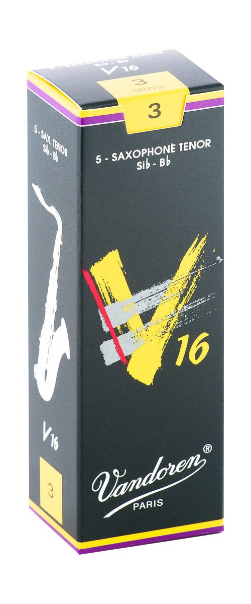 Vandoren V16 Bb Tenor Saxophone Reeds #3, Box of 5