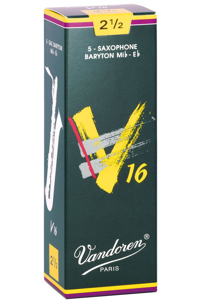Vandoren V16 Eb Baritone Saxophone Reeds #2.5, Box of 5