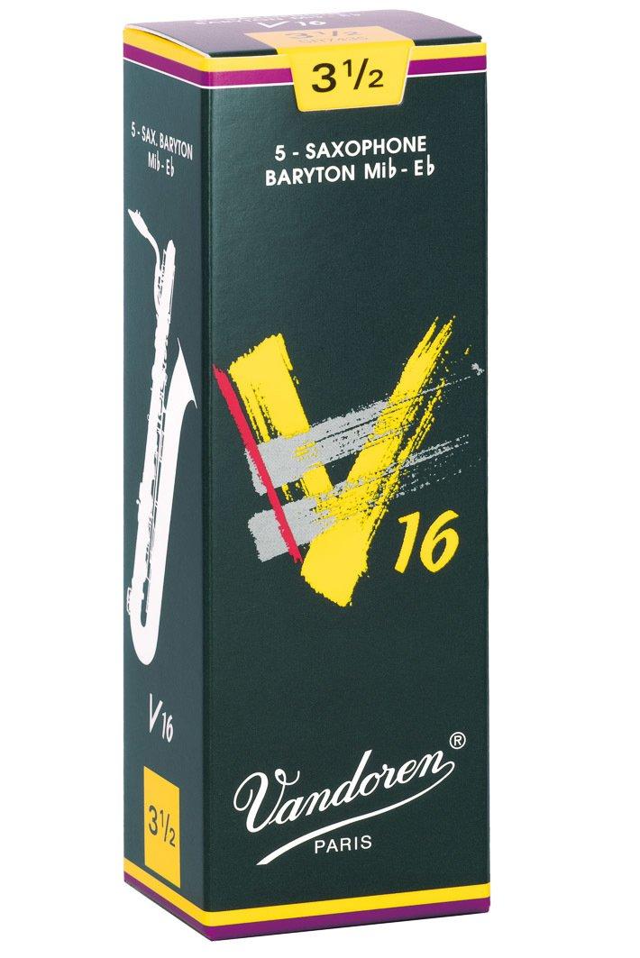 Vandoren V16 Eb Baritone Saxophone Reeds #3.5, Box of 5