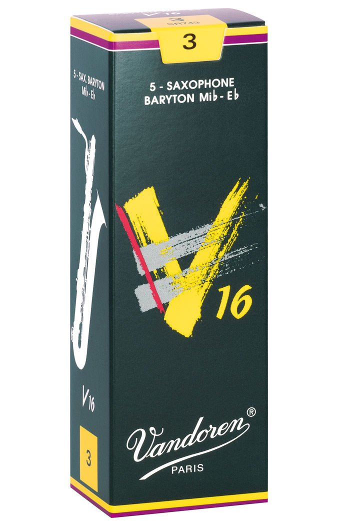 Vandoren V16 Eb Baritone Saxophone Reeds #3, Box of 5