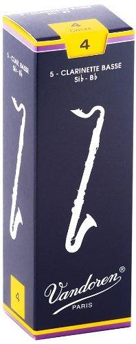Vandoren Traditional Bb Bass Clarinet Reeds #4, Box of 5