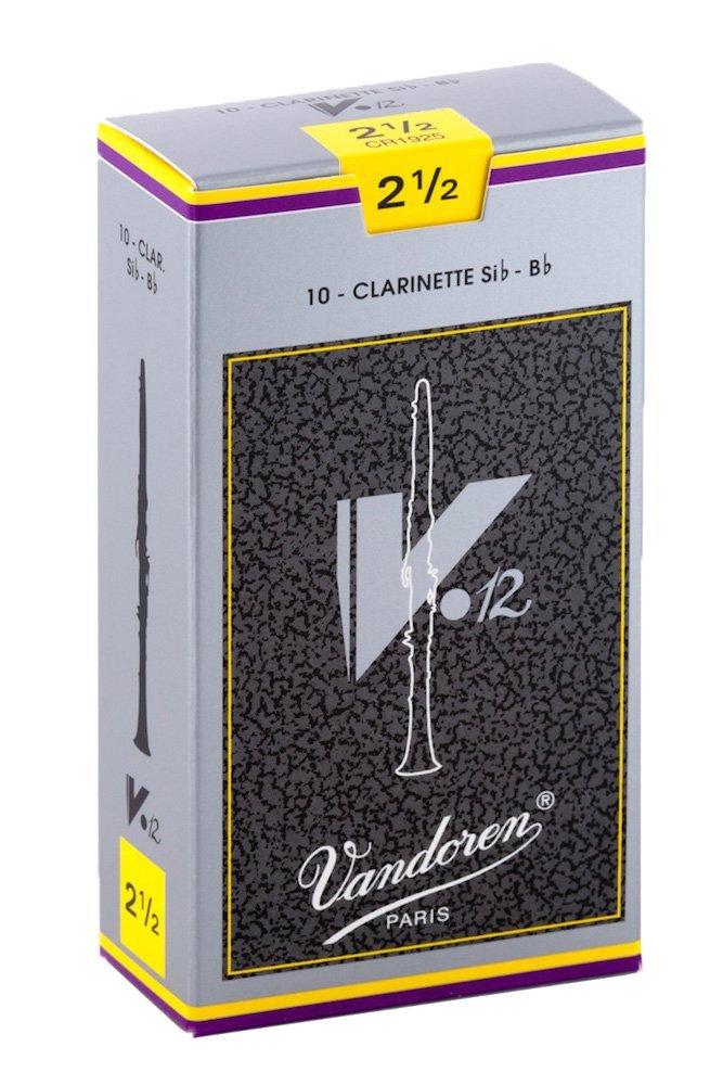 Vandoren V12 Bb Clarinet Reeds #2.5, Box of 10