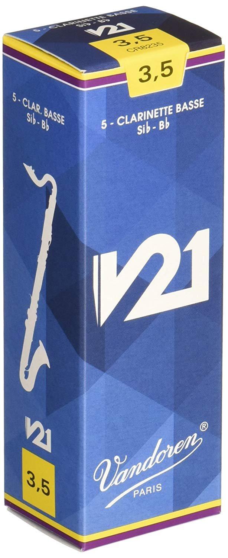 Vandoren V21 Bb Bass Clarinet Reeds #3.5, Box of 5