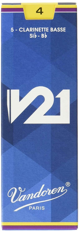Vandoren V21 Bb Bass Clarinet Reeds #4, Box of 5