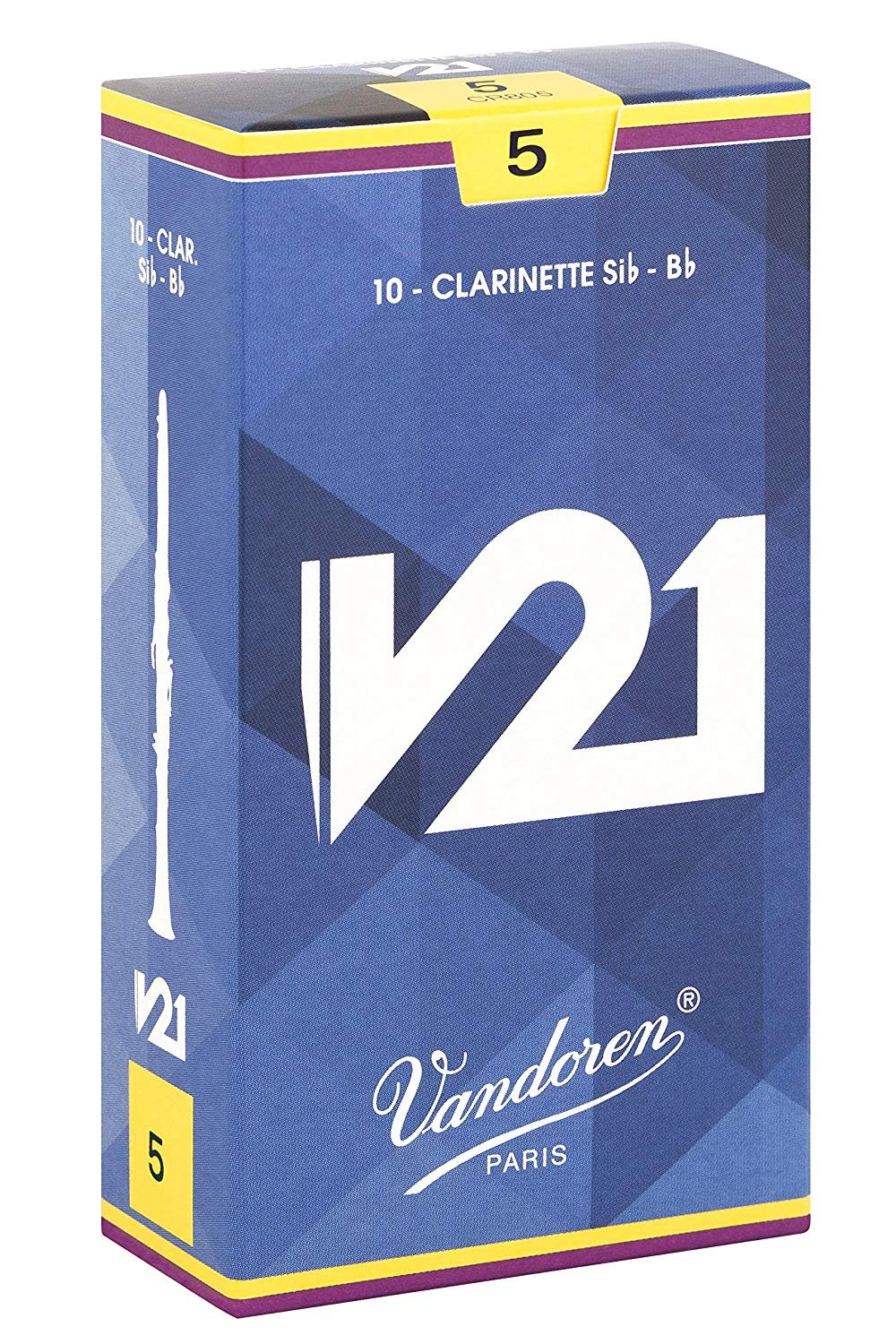 Vandoren V21 Bb Clarinet Reeds #5, Box of 10