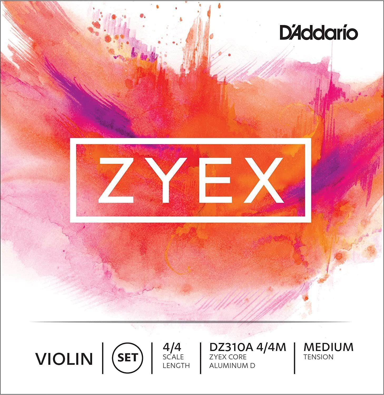 Zyex 4/4 Violin String Set Med Tension