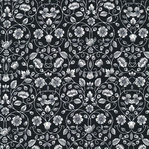 Opposites Wht Floral on Black
