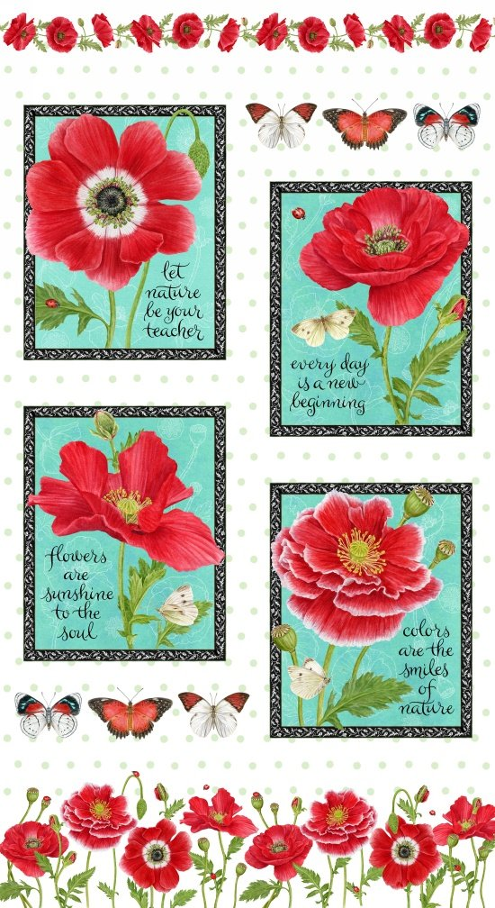 Poppy Patchwork Panel