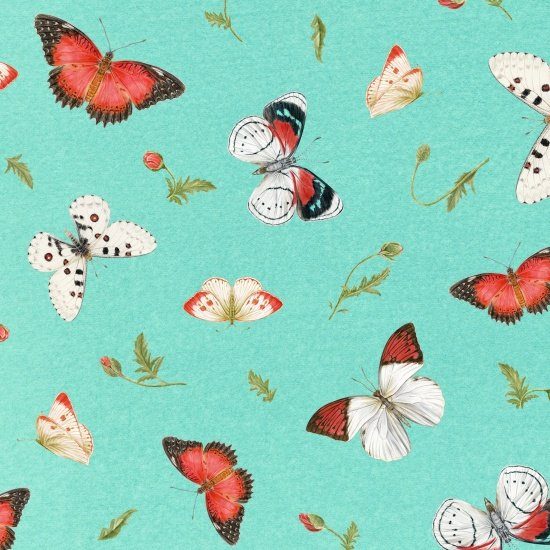 Poppy Patchwork Butterflies