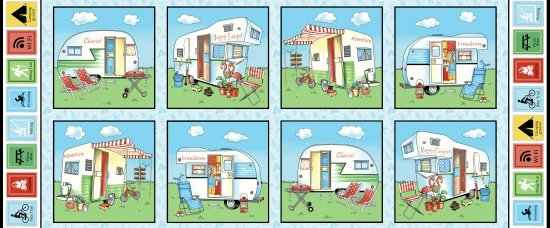 Happy Camper Panel Blocks