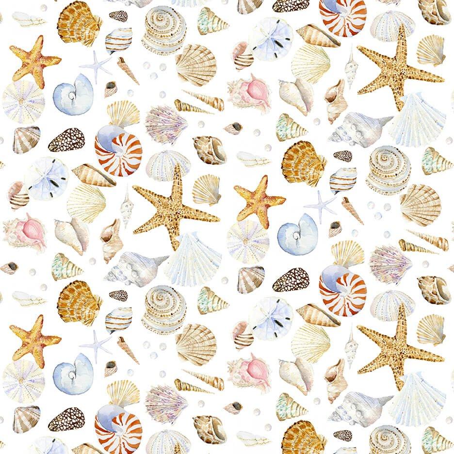 Coastal Paradise Shells White