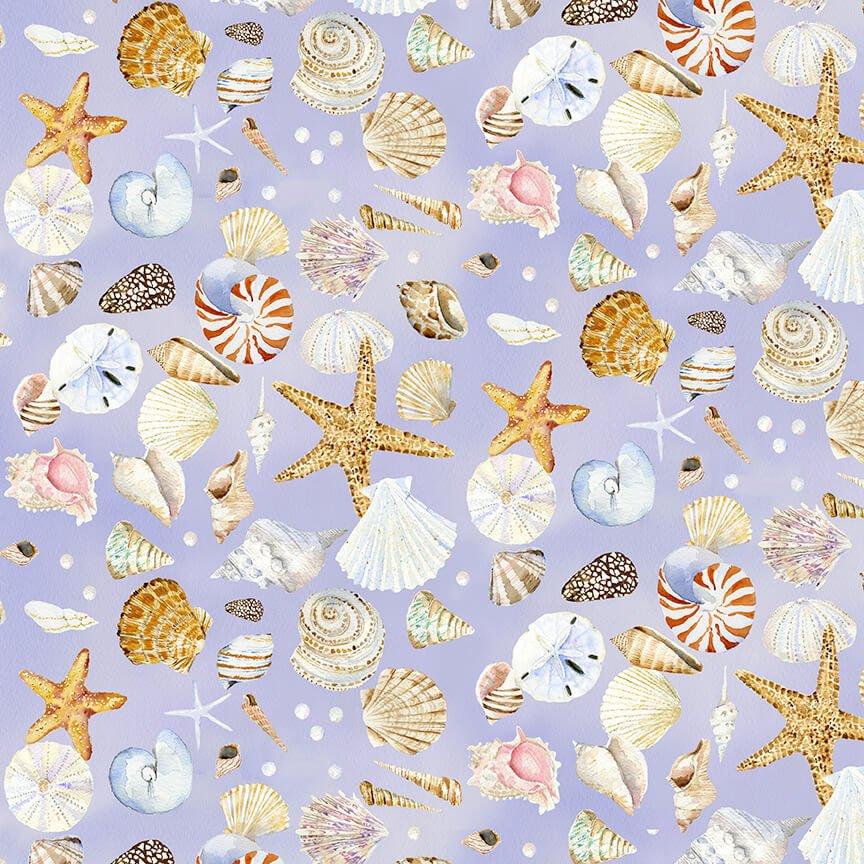 Coastal Paradise Shells Lilac