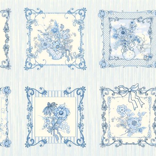 Flora Bleu Panel