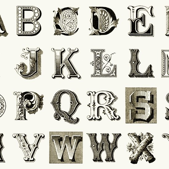 Letter Stitch Cream Panel