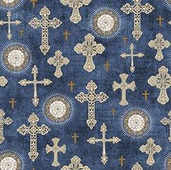 Heavenly Crosses Blue