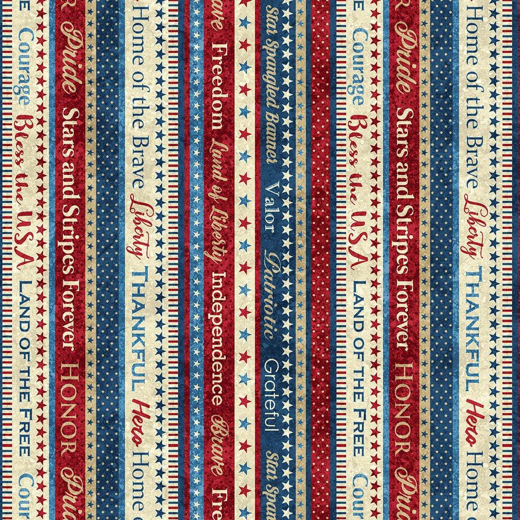 Stars & Stripes Word Stripe
